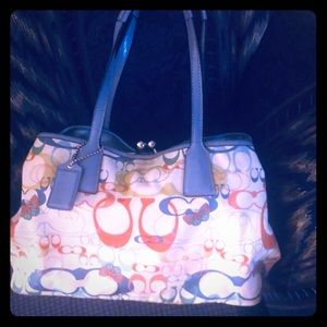 Coach multicolored framed Bag